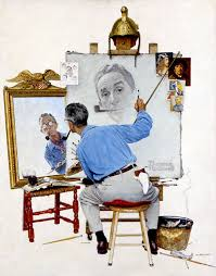 NORMAN ROCKWELL SELF PAINTING