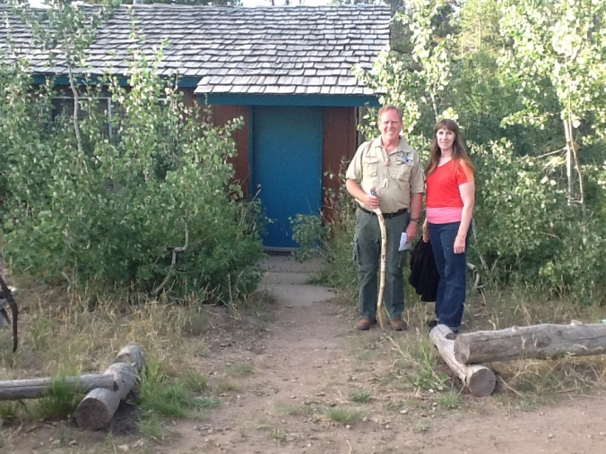 KEVIN AND LOU IN FRONT OUR OLD CABIN