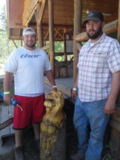 BEAR CARVER AND FRIEND
