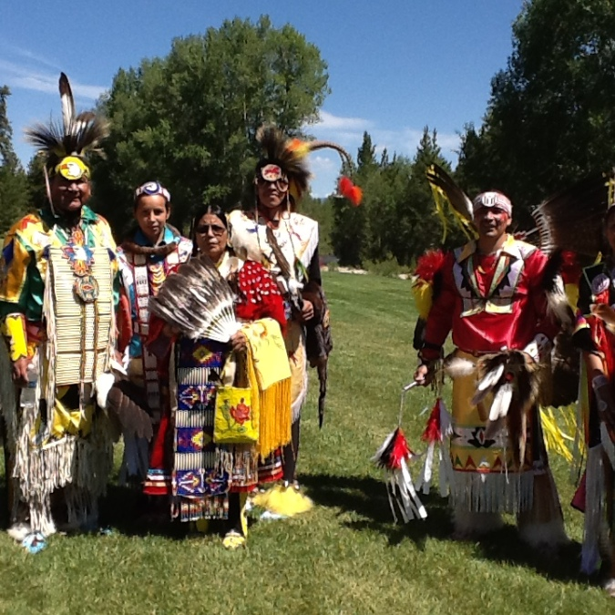 NATIVE AMERICANS IN PINEDALE MNT MAN RENDEZVOUS