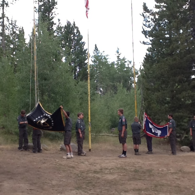 FLAG CEREMONY BY STAFF 2