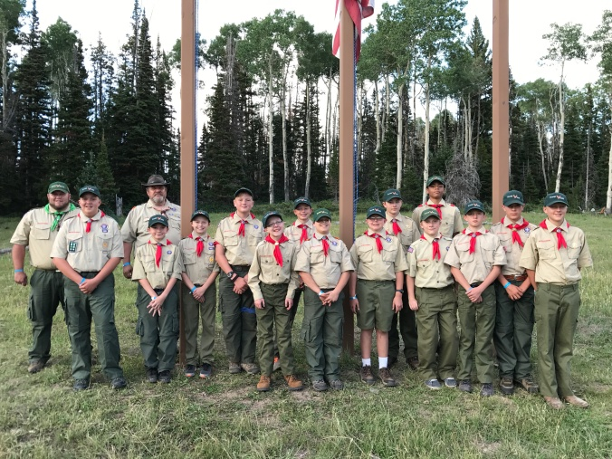 Troop 605 from Richfield, Utah