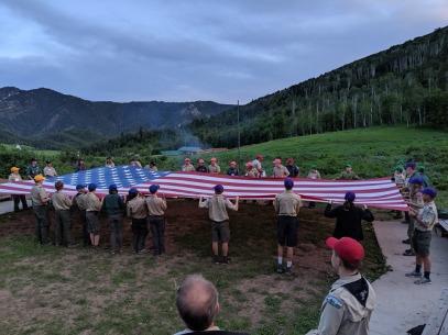 Flag retiring